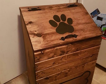 Wood Dog Toy Box Pet Toy Storage By Julieeveswoodworking