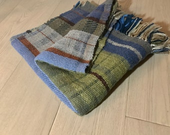 Handwoven Plaid Wool Blanket No. 5.1