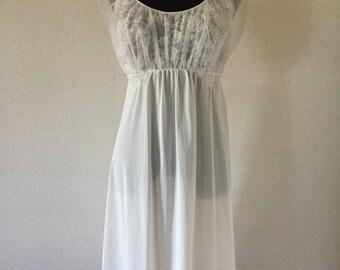 Vintage 1950s Vanity Fair Sheer Nightgown