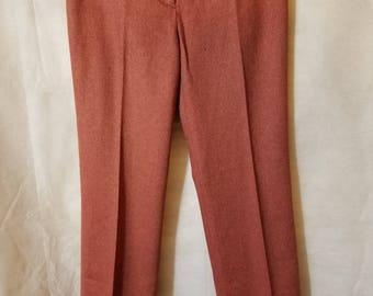 S Small Vintage 90s J. Crew Low Rise maroon herringbone pattern Punk Indie Grunge Alternative Trousers Pants business Profesional secretary