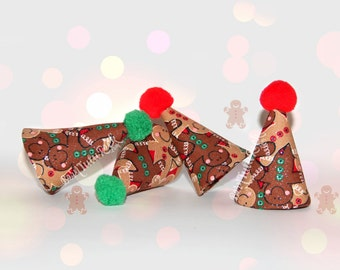 Gingerbread Party Hat // Christmas Party Hat // Mini Party Hat // by Born TuTu Rock