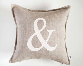 Personalized pillow cover - monogrammed pillow gift - home decor pillows - wedding gift - custom letter pillow