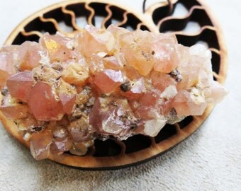 Rose Peach Quartz Rare Iron Oxide Included Crystal Cluster Display Crystal Specimen Healing Unknown Location