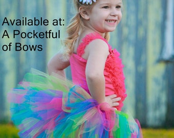 Rainbow Tutu Skirt, Toddler Bright Rainbow Tutu, Toddler Tutu