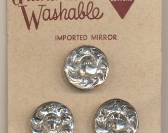 "Set of Three 11/16"" Mirror Buttons - US Zone Germany"