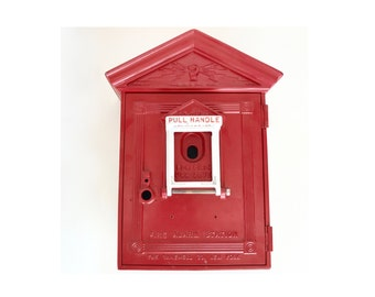 Antique Cast Iron Gamewell Fire Station Alarm Box