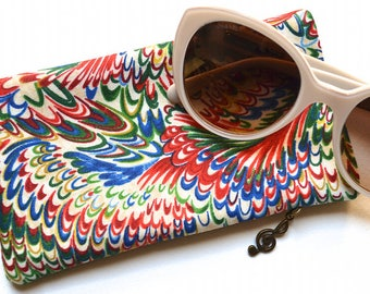 Eyeglasses Case - Cotton Fabric & Felt - Sunglasses Case - Handmade