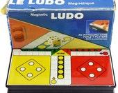 Vintage Retro Magnetic Pocket Travel Old Ludo Board Game 1980s