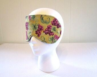 Grape Sleeping Mask Soft Purple Fleece Back with Elastic Band Women Sleep Wear Night or Day Time Eye Mask Travel Eye Cover