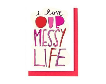 Happy Anniversary Card - I Love You Card - Romantic Greeting Card - Love Card - Anniversary Greeting Card - Wedding Card