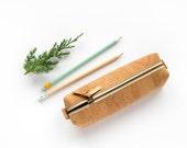 Cork pencil case handmade of natural cork