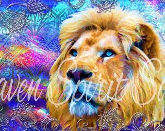 Day Dreaming lion desktop wallpaper