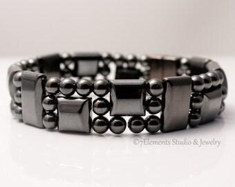 Magnetic Hematite Bracelet, Arthritis Therapy Bracelet