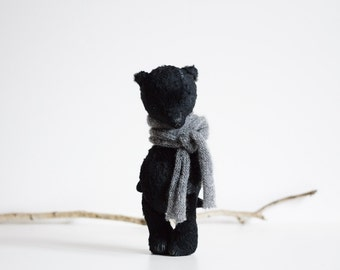 NEW Sewing Pattern For Women Instant Download PDF Sewing Patterns Stuffed Animal Black Mohair Teddy Bear 8 inches