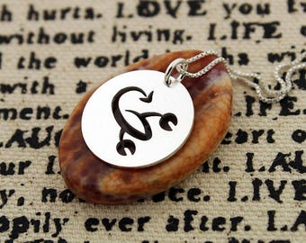Scorpio Necklace astrology zodiac Sign jewelry Sterling silver charm round charm Personalized Gift Birthday gift  horoscope Symbol gift idea
