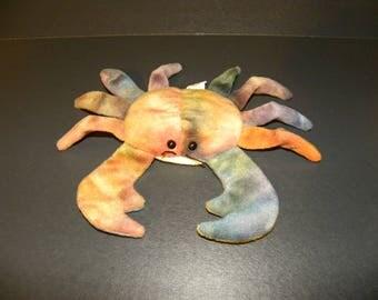 Tie Dye Claude the Crab Beanie Baby