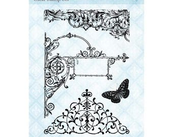IRONWORK STAMPS, New Orleans Stamps, Blue Fern Studios Stamps, Filigree Ironwork Stamps, Sign Stamps, Filigree Stamps