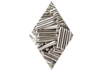 Silver Rod Metallic Dragees - 1 & 2 oz Sprinkles, Toppings, Decorations, Winter, Christmas, Holiday, Baking, Cookies, Cupcakes, Cake,