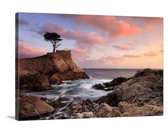 Lone Cypress Tree Canvas Art, Pebble Beach California Photography, Monterey Carmel CA Photo, Large Canvas Wrap, Peaceful Seascape Photograph