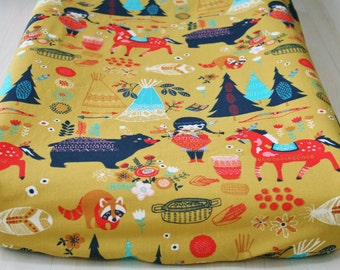 Organic Changing Pad Cover, Changing Pad Cover, Contoured Changing Pad Cover, Organic, Wildland Baby Girl