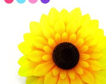 "6pcs Large Silk Sunflowers Heads 5.5"" - Fabric - Artificial Flower Wedding & Home decor"