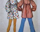 1970s Smock Pattern /Simplicity 5498 /Mini Dress Sewing Pattern/Bust 34-36 Size 12-14