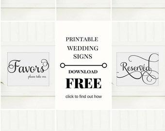 Wedding Signs Set Bundle | Set of 8 | 8x10 Instant Download