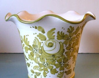 Made in Italy Large  Ceramic Flower Pot