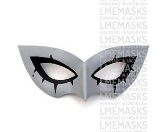 Persona 5 Leather Mask MegaTen Video Game Role-Playing Grey Megami Tensei Shin MegaTen Megami Tensei Halloween Cosplay Masquerade Costume