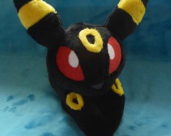 "Pokémon Umbreon Beanie Plush Minky 7.5"""