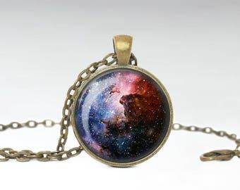 Carina Nebula Necklace, Space Constellation Pendant, Space Galaxy Jewelry [A32]