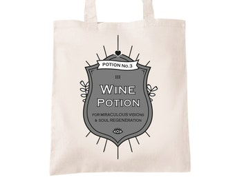 Wine Joke Shopping Bag Cotton Shopper For Wine Lovers