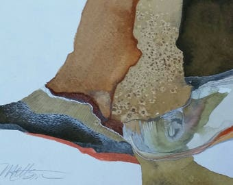 """Padre Island Series """" Textures Alog the Shore"""" orginal one of a kind watercolor"""
