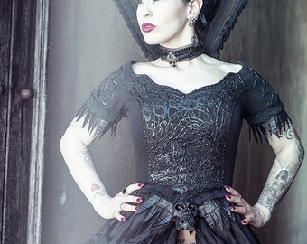 SALE! was 490! EVIL QUEEN, corset dress, gothic dress, gothic clothing, wild gothic dress, goth dress, witch dress, vampire costume, fantasy
