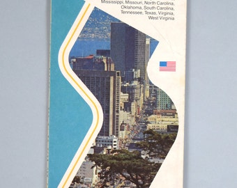 Vintage 1982 Rand McNally Family Vacation Guide and Road Map Southern States