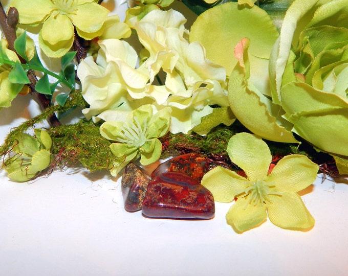 TUMBLED BLOODSTONE or UNAKITE gemstone - hand-picked natural stone - Reiki Wicca Pagan Energy-work Tool
