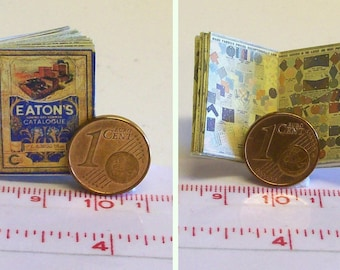 1321# Miniature Eatons warehouse catalogue of 1913- doll house miniature in scale 1/12