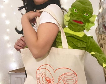 I'm in love with the creature tote bag