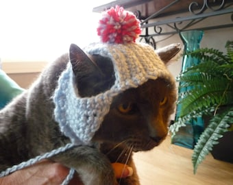 Pom Pom Costume for Cats and Dogs Winter Hat for Cats and Dogs Winter Pet Christmas Costume Cat Hat Dog Hats for Dogs Cat Costume Cute Dog