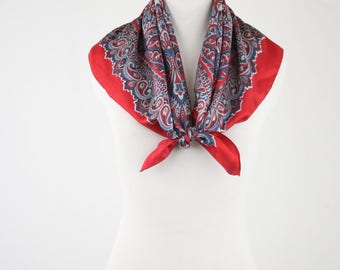 "Vintage Liberty of London Paisley Silk Twill Square Scarf from Trimingham""s Bermuda"
