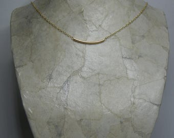 Gold Necklace, Gold Bar Necklace, Gold Necklace Delicate, Necklace Wedding, Bridal Jewelry, Wedding Jewellery, Bridesmaid Gift.