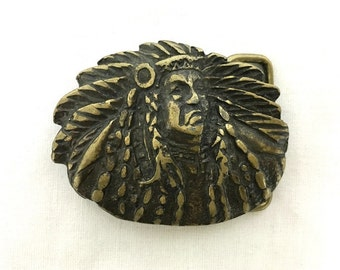 """Unique, One Of  Kind Indian American Shape Small Buckle. Country Western Belt Buckle. For Men & Women. Fits 1.57""""/ 4cm (or less) Wide Belts."""