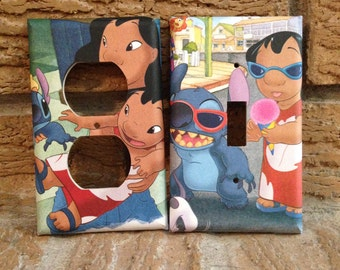 Lilo and Stitch Light Switch and Electrical Outlet Cover, Lilo and Stitch Decor, Nani, Lilo and Stitch Nursery, Gift, Lilo Decoration, LS8