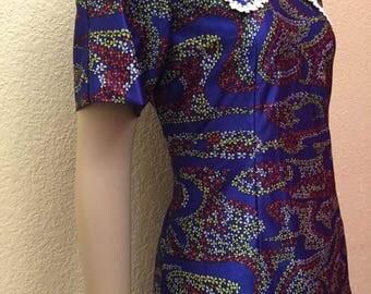 Vintage Flower Dress vintage fabric handmade item