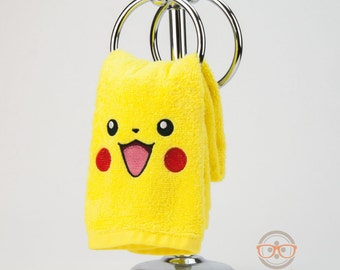 "Pokemon ""Pikachu"" Inspired - Embroidered Hand Towel"