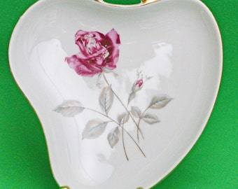 Beautiful Rersch & Co. (Bavaria, Germany) Heart-Shaped Porcelain Candy Dish