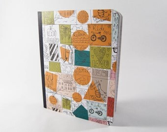 Hip, With-it & Wow! Composition Notebook, Altered Composition Notebook, Wide-Ruled
