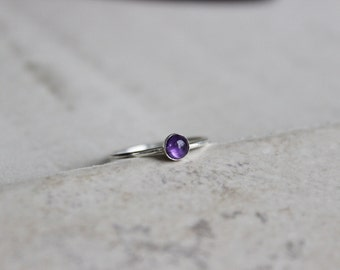 Amethyst Ring, Amethyst Stacking Ring, Stackable Ring, Dainty Ring