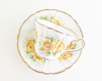 ROYAL STAFFORD Peony Tea Cup and Saucer