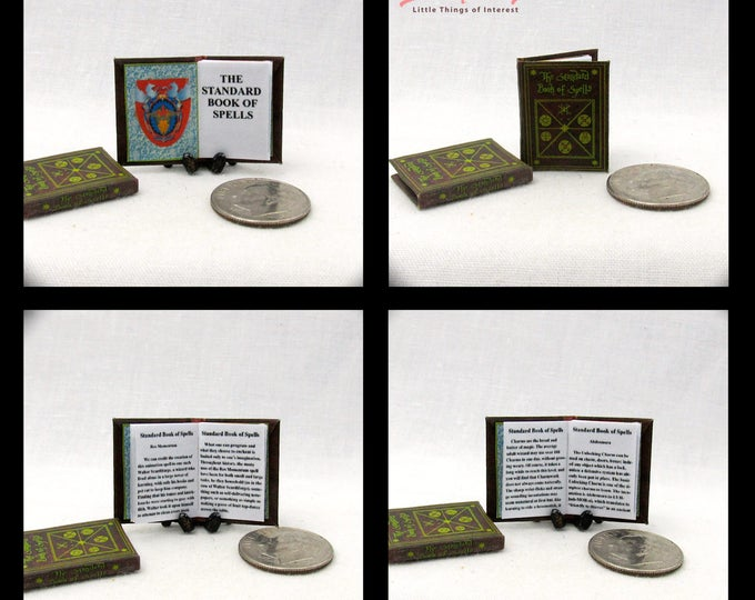 The STANDARD BOOK of SPELLS Magical Textbook Miniature Book Dollhouse 1:12 Scale Book Harry Potter Witch Wizard Gypsy Fortune Teller